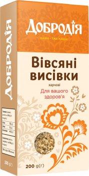 Упаковка висівок вівсяних Добродія харчових 200 г х 4 шт. (4820182202599)