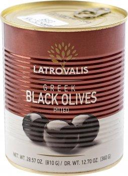 Оливки чорні Latrovalis без кісточок 70/90 900 мл (5204403623407)