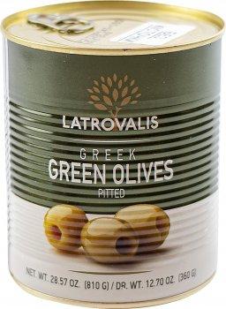 Оливки зеленые Latrovalis без косточек 70/90 900 мл (5204403223409)