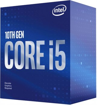 Процесор Intel Core i5-10400F 2.9 GHz / 12 MB (BX8070110400F) s1200 BOX