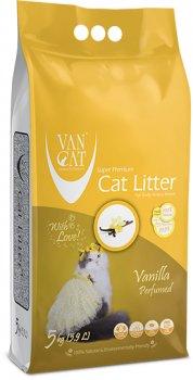 Наполнитель для кошачьего туалета Van Cat Super Premium Quality Vanilla Бентонитовый комкующий 5 кг (8699245856309)