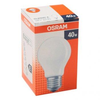 Лампа розжарювання OSRAM Клас А 40W E27 матова (10133445)