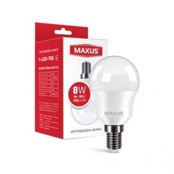 Лампа Maxus LED G45 8W 840LM 4100K E14 (11987276)