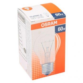 Лампа розжарювання OSRAM Клас А 60W E27 прозора (10133410)