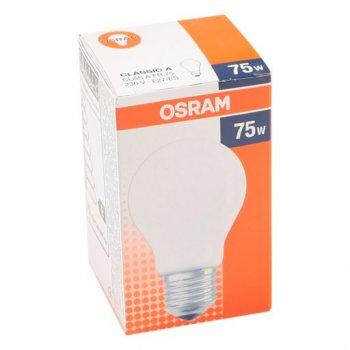 Лампа розжарювання OSRAM Клас А 75W E27 матова (10133466)