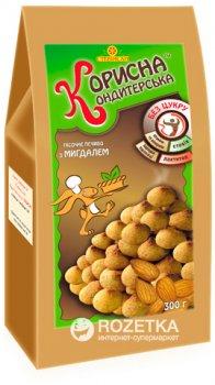Упаковка печенья Корисна Кондитерська с миндалём со стевией 300 г х 8 шт (4820158920618)