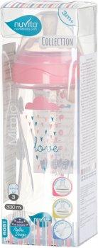 Детская Антиколиковая бутылочка для кормления Nuvita Mimic Collection 330 мл Розовая (NV6051ROSA)