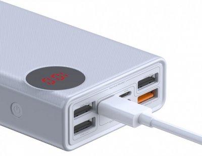 Зовнішній акумулятор Baseus Mulight 30000 mAh White (PPMY-02)
