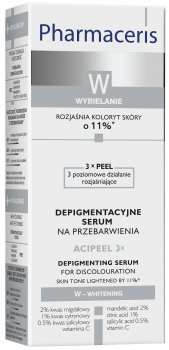 Лечебная ночная сыворотка для депигментации кожи Pharmaceris W Acipeel 3x 30 мл (5900717147515)