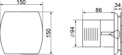Вытяжной вентилятор ELECTROLUX EAFA-100Т