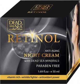 Ночной крем Dead sea collection против старения с ретинолом и минералами Мертвого моря 50 мл (7290101220664)