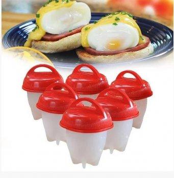 Силиконовые формочки Eggies Boil для варки яиц без скорлупы набор из 6 штук V0102