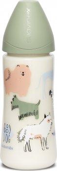 Бутылочка для кормления Suavinex Истории щенков круглая соска, быстрый поток Зеленая 360 мл (304831) (842642005415)