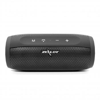 Портативна бездротова Bluetooth колонка ZeaLot S16 10W 4000mAh AUX USB Чорна