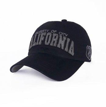 Стильная мужская бейсболка California Sport Line 3735 57-60 цвет черный