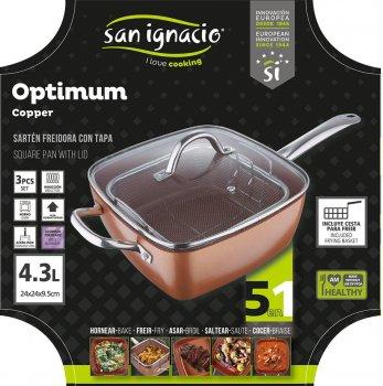 Сковорода San Ignacio Optimum Copper с крышкой 24х24 см (SG-6920)
