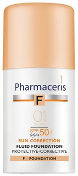 Корректирующий защитный тональный флюид Pharmaceris F SPF50+ Слоновая кость 30 мл (5900717154117)