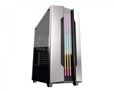 """Корпус Cougar Gemini S Silver, Mini ITX / Micro ATX / ATX, 2*3.5""""+3*2.5"""", підсвічування Trelux RGB, Glas"""