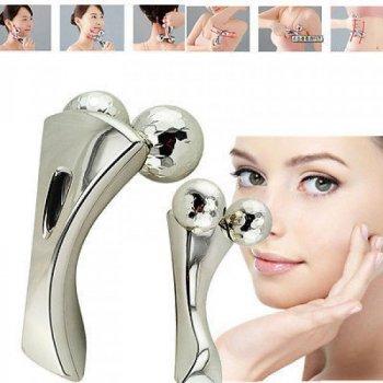 Массажер для лица и тела 3D Massager Portable Silver