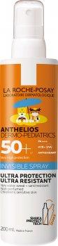 Солнцезащитный ультралегкий спрей La Roche-Posay Anthelios Dermo-Pediatrics для чувствительной кожи детей с очень высокой степенью защиты SPF 50+ 200 мл (3337875698696)