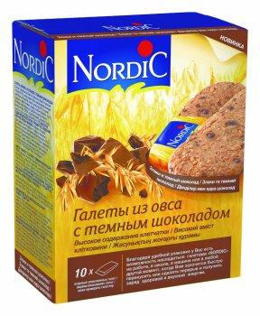 Галеты из овса Nordic с черным шоколадом 300 г (6411200106784)