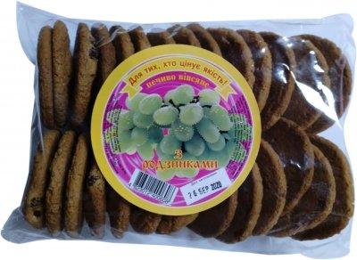 Упаковка печенья Ржищев овсяного с изюмом 500 г х 2 шт (4820007054617)