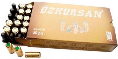 Патрон холостой пистолетный 8 мм Ozkursan