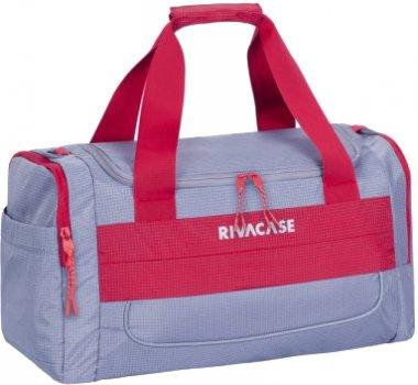 Дорожная сумка RIVACASE 5235 Серая с красным (5235 (Grey/red))