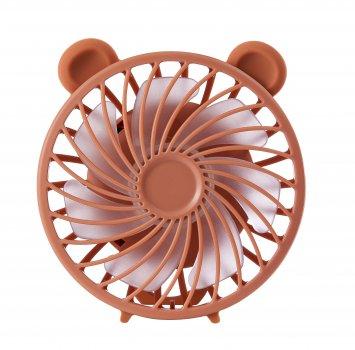 Дитячий портативний ручний вентилятор NBZ Maka Bear Fan Brown з акумулятором