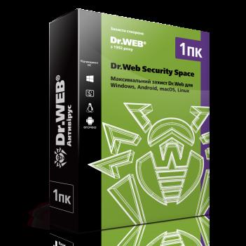 Антивірус Dr. Web Security Space (1 ПК) ліцензія на 3 місяці, базова (DW-SS-3M)