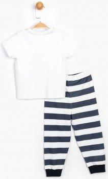 Костюм (футболка + штаны) Panolino PL15433 Белый с синим_
