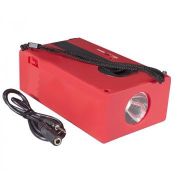 Ліхтар-колонка Haoyi HY-018 Red з динамо-машиною і вбудованим акумулятором
