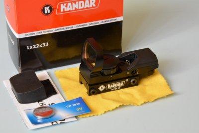 Прицел коллиматорный KANDAR 1х22х33 крепление 22мм