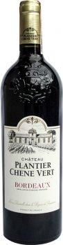 Упаковка вина Les Grands Chais de France Chateau Plantier Chene Vert Bordeaux красное сухое 13.5% 0.75 л х 6 шт (3500611160331)