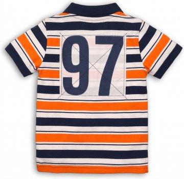 Поло Minoti Club 4 7924 Синее с оранжевым и белым