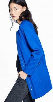 Пальто Mango 41065691 Синее