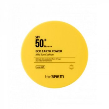 Солнцезащитное средство The Saem Eco Earth Power Mild Sun Cushion PF50+ PA++++ (SW0000460)