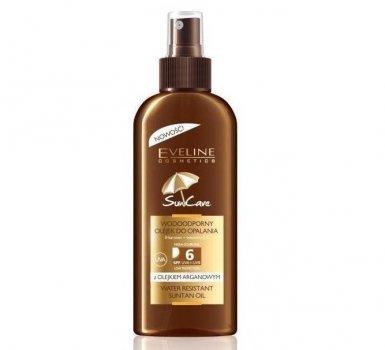 Солнцезащитное водостойкое масло Eveline Sun Care SPF 6 с маслом аргана 150 мл (5907609328229)