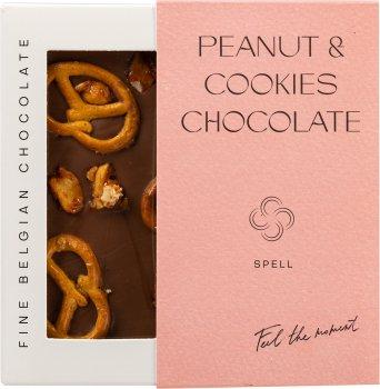 Шоколад Spell молочный с арахисовой пастой, клюквой и печеньем 110 г (4820207310940)