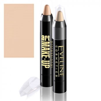 Корректирующий карандаш Eveline Cosmetics Art Scenic Professional Make-up Cover Stick фарфор 4г. (5907609335395)