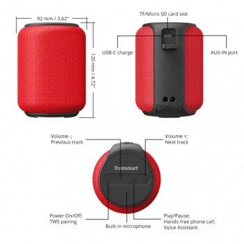 Портативная колонка Tronsmart Element T6 Mini Red