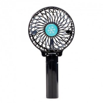 Ручний міні-вентилятор Arivans 11х8 см чорний 01238