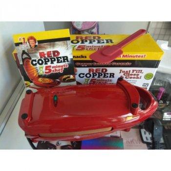 Інноваційна электросковорода Copper Red 5 minuts chef PLUS електрична скороварка для других страв