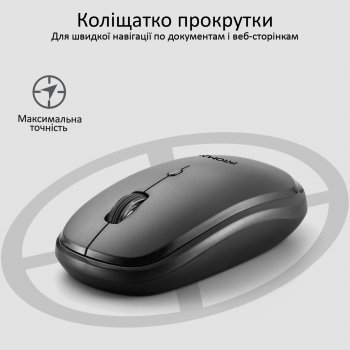 Миша Promate Hover Wireless Black (hover.black)