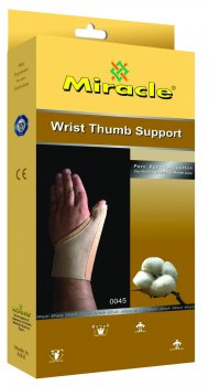Ортез на лучезапястный сустав и суставы большого пальца с ребром жесткости, Miracle модель 0045 р. M/L, беж