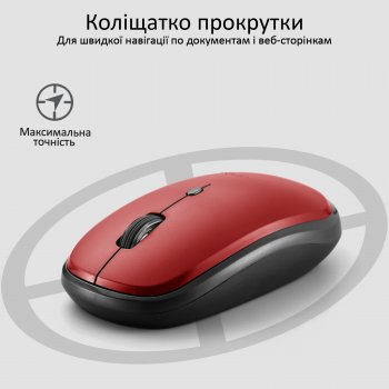 Миша Promate Hover Wireless Red (hover.red)