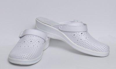 Обувь (сабо) медицинская женская, мягкий подпяточник, Теллус, модель Яна белые