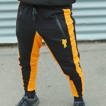 Спортивные штаны Billie Eilish черно-оранжевые