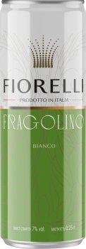 Упаковка Фраголино Fiorelli Bianco белое сладкое 0.25 л x 24 шт. 7% (8002915652161)