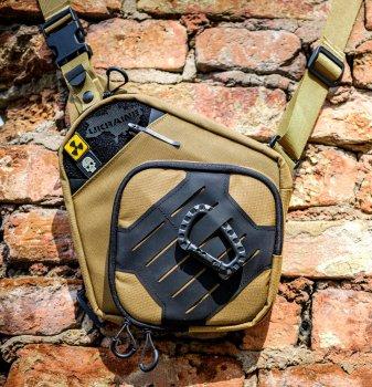 Тактическая сумка для скрытого ношения Scout Tactical EDC ambidexter bag coyot/black + органайзер и кобура в комплекте